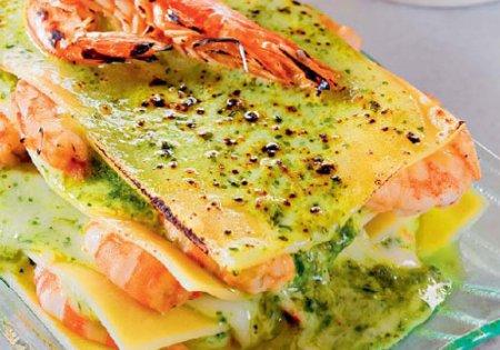 Лазанья с морепродуктами